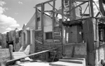 Short Creek raid, Arizona, 1953. A house in the town suggests just how poor most in the Short Creek community were.